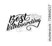 lettering best kite boarding. | Shutterstock .eps vector #728868217