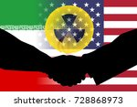 united states and iran flag... | Shutterstock . vector #728868973