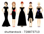 beautiful women in different... | Shutterstock .eps vector #728873713