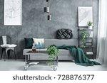 handmade knot cushion lying on... | Shutterstock . vector #728876377