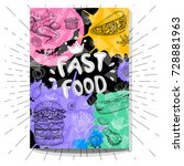 fast food cafe poster poster.... | Shutterstock .eps vector #728881963