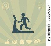 man on treadmill icon | Shutterstock .eps vector #728897137