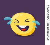 laughing emoji character.... | Shutterstock .eps vector #728900917
