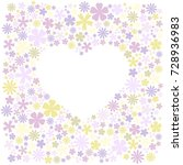greeting card with  flowers... | Shutterstock .eps vector #728936983