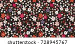trendy seamless texture with... | Shutterstock .eps vector #728945767