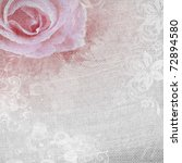 Stock photo grunge romantic background with rose 72894580