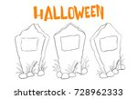 vector set of outline... | Shutterstock .eps vector #728962333
