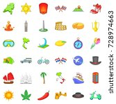 around the world icons set.... | Shutterstock . vector #728974663