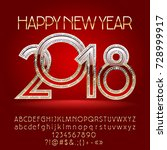 vector chic happy new year 2017 ... | Shutterstock .eps vector #728999917