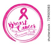 breast cancer awareness month... | Shutterstock .eps vector #729005083