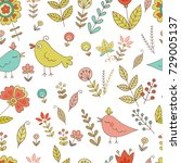 vintage seamless pattern for... | Shutterstock .eps vector #729005137