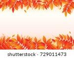 autumn leaves background.... | Shutterstock .eps vector #729011473