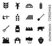16 vector icon set   windmill ... | Shutterstock .eps vector #729024463