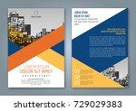 abstract minimal geometric... | Shutterstock .eps vector #729029383