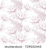 vintage floral pattern texture... | Shutterstock .eps vector #729032443