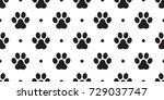 dog paw cat paw vector seamless ... | Shutterstock .eps vector #729037747