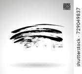 black brush stroke and texture. ... | Shutterstock .eps vector #729049837