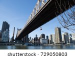 a view of ed koch queensboro... | Shutterstock . vector #729050803