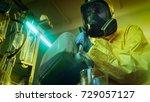 in the underground drug...   Shutterstock . vector #729057127