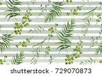 palm different tree  foliage... | Shutterstock .eps vector #729070873