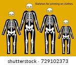 skeleton costume. skeleton for... | Shutterstock .eps vector #729102373