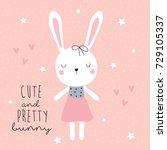 cute and pretty bunny vector