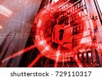 security concept  hacked the... | Shutterstock . vector #729110317