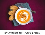 homemade sweet potato and... | Shutterstock . vector #729117883