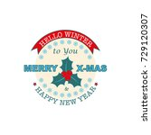 christmas badge  label  banner | Shutterstock .eps vector #729120307