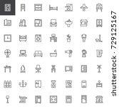 home interiors furniture line...   Shutterstock .eps vector #729125167