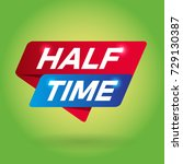 half time arrow colored tag... | Shutterstock .eps vector #729130387