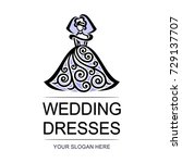 vector logo   wedding dresses
