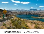 lake mohave at lake mead... | Shutterstock . vector #729138943