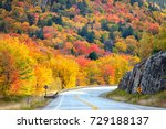 scenic drive through new... | Shutterstock . vector #729188137