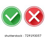 set red and green icons buttons.... | Shutterstock .eps vector #729193057