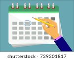 the concept  mark in the... | Shutterstock .eps vector #729201817