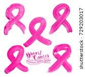 breast cancer awareness ribbon... | Shutterstock .eps vector #729203017