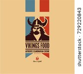 viking  scandinavian food | Shutterstock .eps vector #729220843