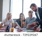 business consultants working in ... | Shutterstock . vector #729229267