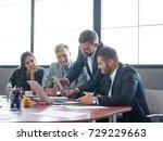 business consultants working in ... | Shutterstock . vector #729229663