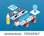 team operation process | Shutterstock .eps vector #729235567