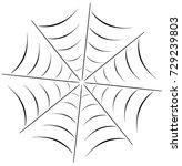 vector illustration of a spider ... | Shutterstock .eps vector #729239803