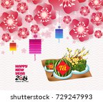 chinese new year background... | Shutterstock .eps vector #729247993