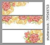 romantic invitation. wedding ... | Shutterstock .eps vector #729263713