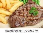 Sirloin Beef Steak With Chips...