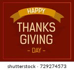 happy thanksgiving day greeting ... | Shutterstock .eps vector #729274573
