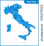 the detailed map of the italy... | Shutterstock .eps vector #729275923