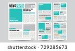 newspaper design template... | Shutterstock .eps vector #729285673