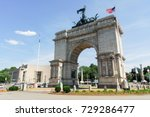 triumphal arch at the grand... | Shutterstock . vector #729286477
