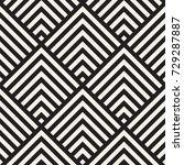 stylish lines maze lattice.... | Shutterstock .eps vector #729287887